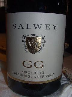 Der Gross Gewaechs Kirchberg Pinot Noir von Salwey