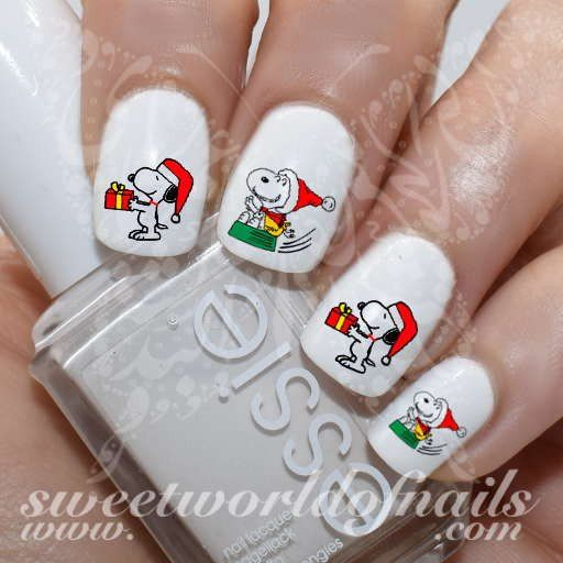 Christmas Nail Art Snoopy Nail Water Decals Water Slides - Best 25+ Snoopy Nails Ideas On Pinterest Christmas Tree Nails