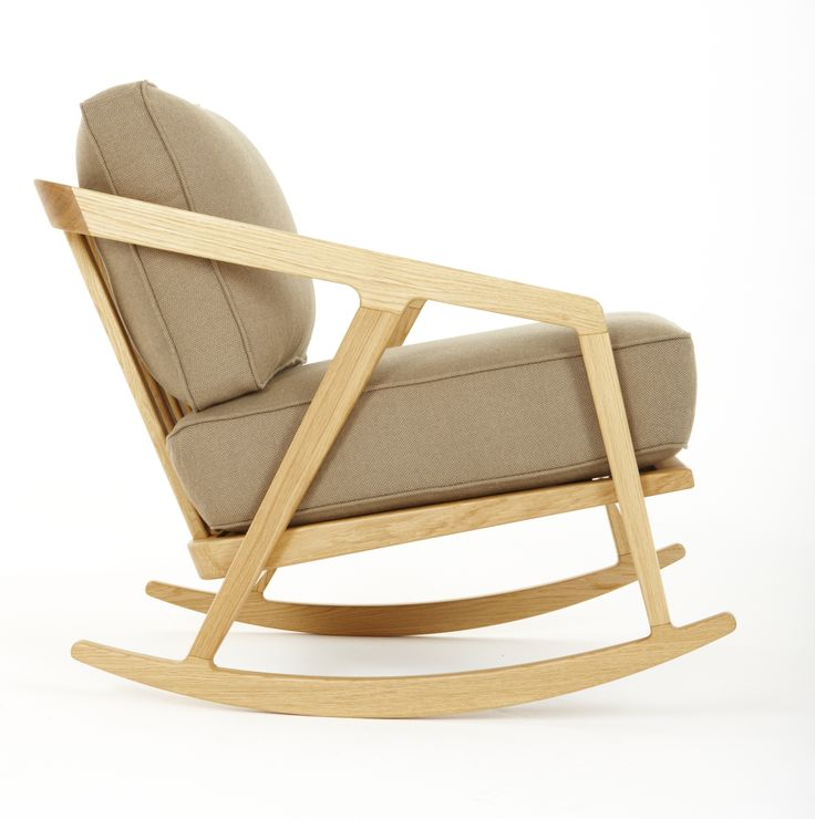 Rocking Upholstered Chair With Armrests Katakana Collection By Dare Studio