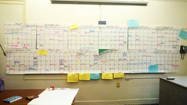 Use one of those free desk calendars to organize your year. Color coordinate with school holidays and events, FFA competition and registration dates, events for your chapter, community events, and more. Align you curriculum. Piece it back together after you're done planning.