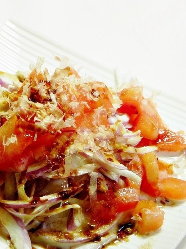 紫玉ねぎとトマトの和風サラダ by ひなちゅん | レシピサイト「Nadia ...