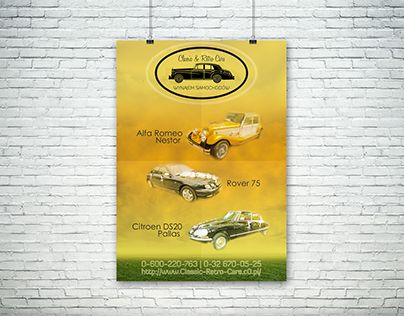 """Check out new work on my @Behance portfolio: """"Poster design for Wedding Cars Tenant Classic & Retro"""" http://be.net/gallery/50864043/Poster-design-for-Wedding-Cars-Tenant-Classic-Retro"""