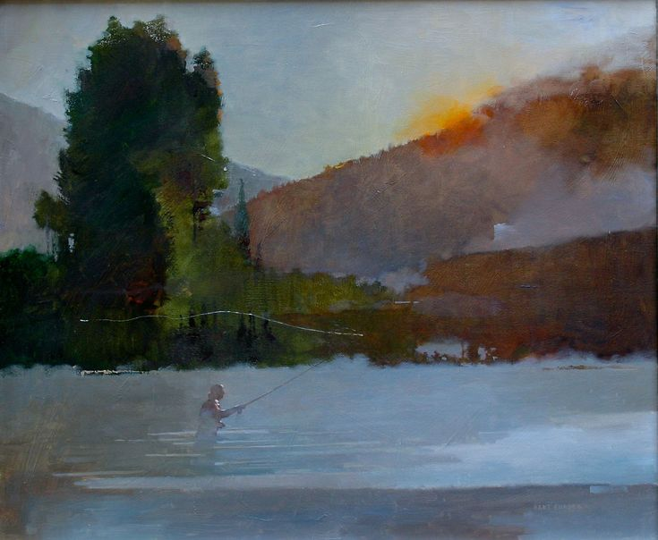 Salmon River painting by Bart Forbes