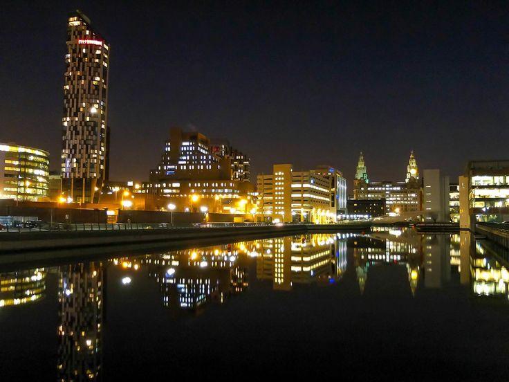 Princes Dock at Night.