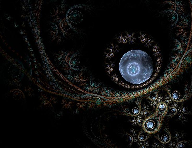 An Abstract Universe Digital Art by Elena Ivanova IvEA    #ElenaIvanovaIvEAFineArtDesign #Print #Decor #Interior #Fractal #Abstraction