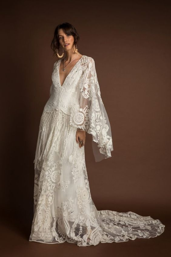 33 Boho Wedding Dress Ideas for Your Big Day – Poptop Event Planning Guide