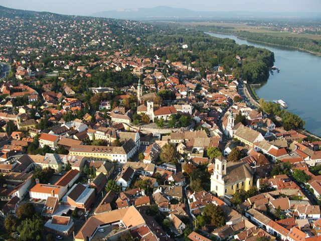 Szentendre from the air