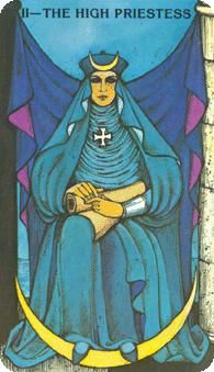 October 9 Tarot Card: The High Priestess (Morgan-Greer deck) Sink into your intuition and listen to your inner voice now -- taking time to pause and absorb helps you realize new truths, meanings and paths
