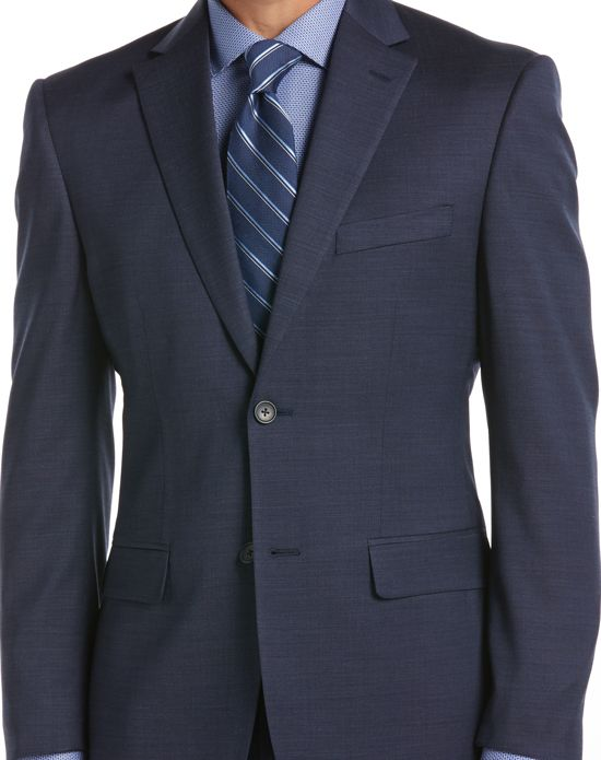 Kenneth Cole® Blue Suit (AWEARNESS KENNETH COLE BLUE SLIM FIT SUIT SEPARATES COAT)