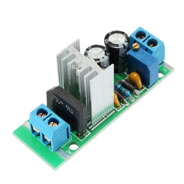 LM317 Adjustable Step Down Power Supply Module Board Linear Regulator With Rectifier