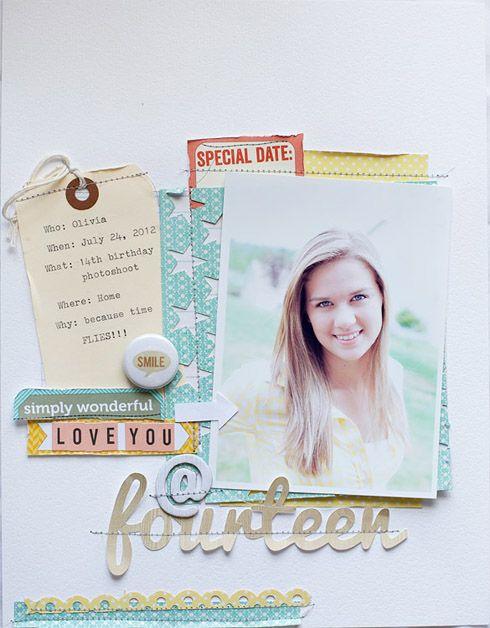 #papercraft #scrapbook #layout.  Jen Kinkade // Elle's Studio