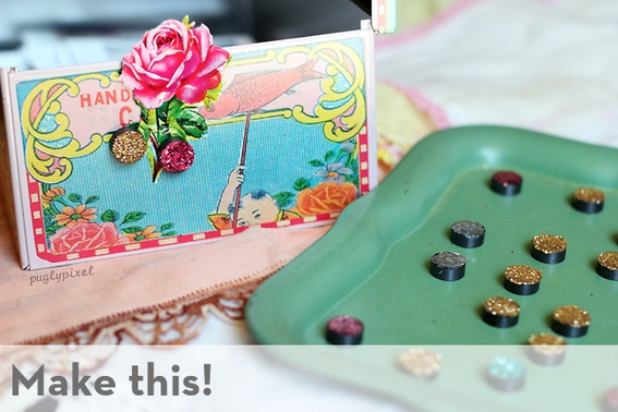 glitter magnets - this totally fits in with my new glittering obsession