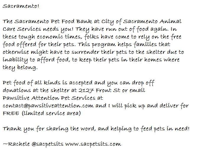 Sacramento Pet Food Bank
