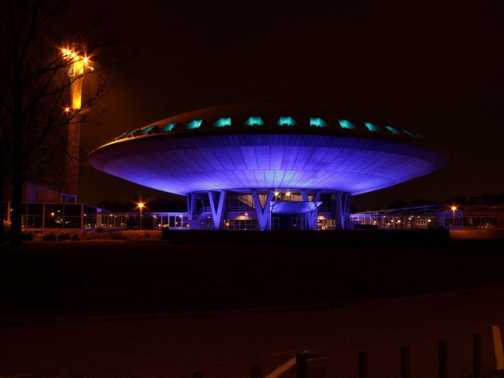 Evoluon by night, Eindhoven