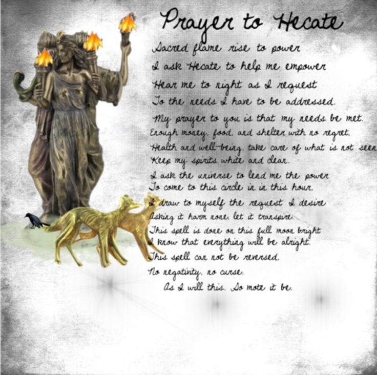 Prayer to Hecate - Goddess of Magic | Wiccan | Hecate ...