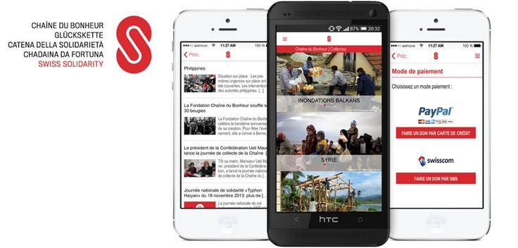 www.asimove.com | La Chaîne du Bonheur a mandaté asiMOVE pour le développement de ses applications Swiss Solidarity iOS  Android. Ce lancement allant de pair avec la nouvelle identité visuelle lancée en Juin 2014.