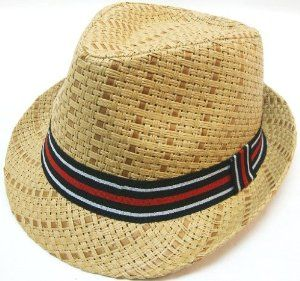 "Summer Cool Straw Fedora Hat Colorful Band by AMC. $9.99. S/M: 21.4"" (57cm). Style: Fedora with Striped grosgrain band. Color: Brown. 100% Brand New. Style: Fedora with Striped grosgrain bandColor: BrownS/M: 21.4"" (57cm) L/XL: 23.2"" (59cm)100% Brand New"