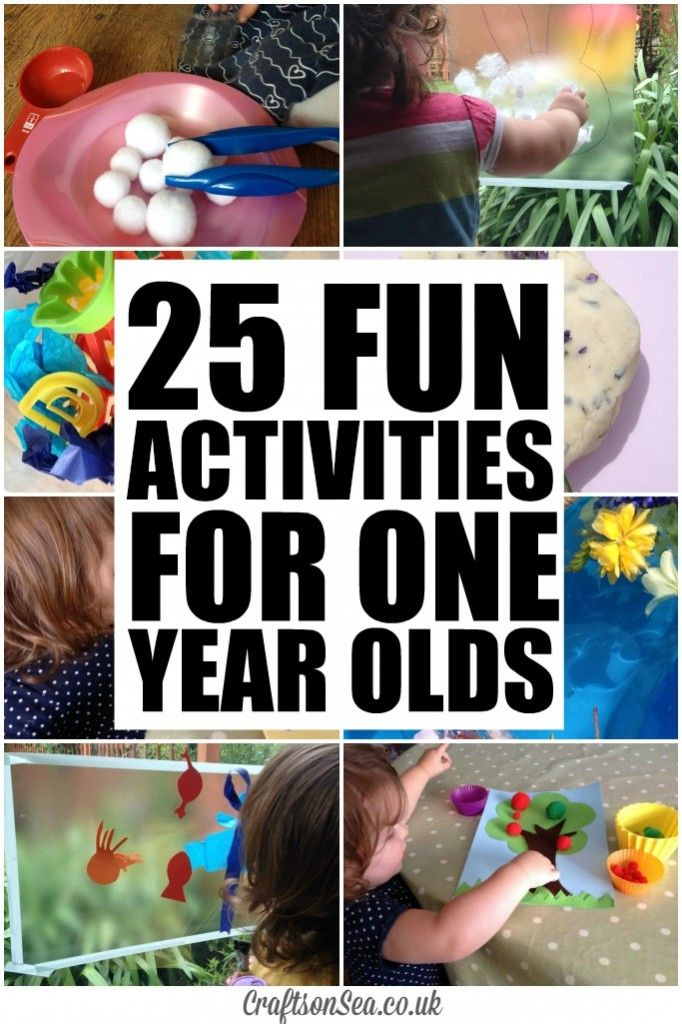 25 Fun Activities for One Year Olds - Crafts on Sea