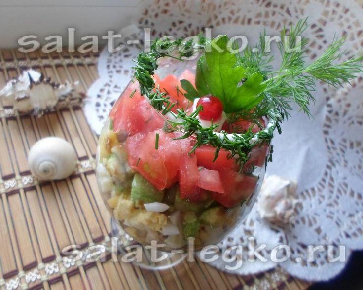 Салат с кабачком в бокале