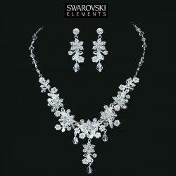Parure bijoux mariage cristal Swarovski