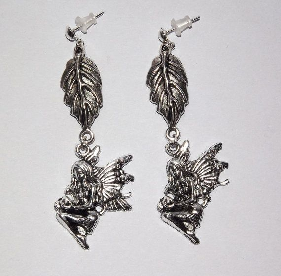 Leaf Faerie Earrings   Free UK P&P  Pagan / Wiccan by KasumiCrafts