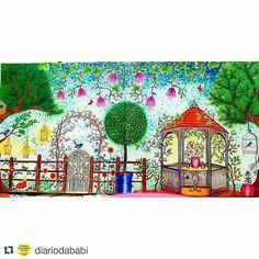 Instagram media desenhoscolorir - Que pintura linda! #Repost @diariodababi with @repostapp ・・・#desenhoscolorir Acabeiiiii... fiquei muito satisfeita com o resultado. Lapis aquarelavel e muita paciência... #secretgarden #jardimsecreto #johannabasford