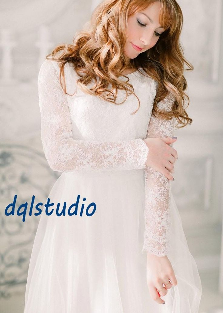 Fairy Wedding Dresses Long Sleeve Lace Bridal Gowns Tulle with Lace Top Quality A-Line Garden Style Wedding Gowns Wedding Dress Bridal Gowns 2017 Wedding Dress Online with $159.0/Piece on Dqlstudio's Store | DHgate.com