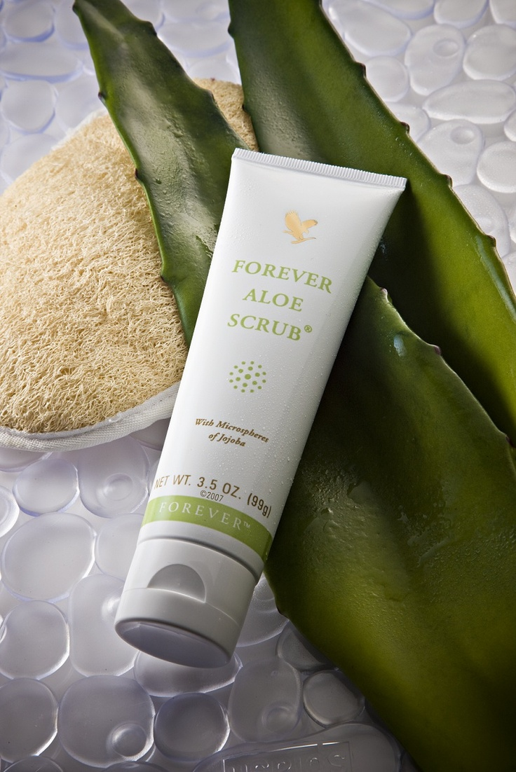 Forever Aloe Scrub, works to remove dead skin cells, open up pores and clear the way for the skin to renew itself to reveal radiant healthier skin.