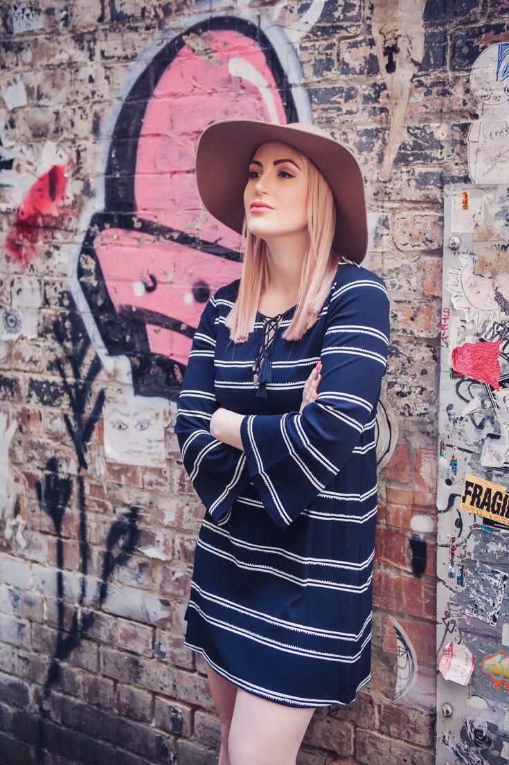 Stripe Shift Dress | The Blonde Silhouette