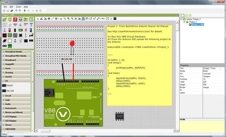 Use Arduino simulation software to learn to program and to develop electronic circuits. AVR emulators replicate hardware level behavior of your MCU.