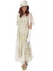 Nataya 20s Inspired Lace Gatsby Wedding Dress