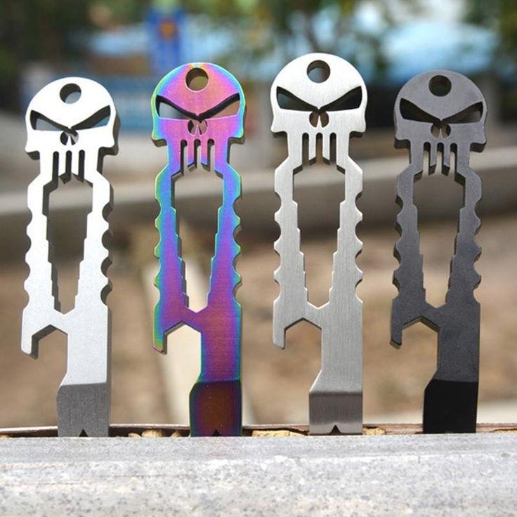 EDC Skull Survival Pocket Tool Key Ring.