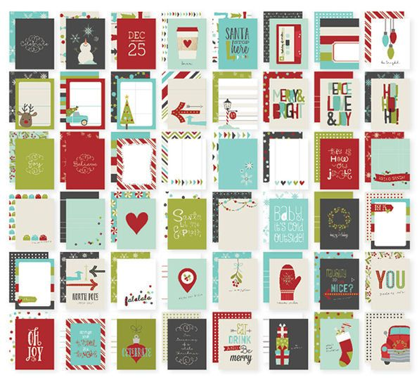 Simple Stories - SNAP Collection - Christmas - 3 x 4 Cards - 'Tis the Season