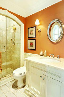 Orange bathroom paint ideas