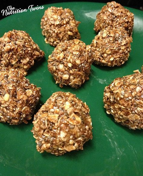 Coco Chia Granola Balls | Only 59 Calories! | Super Easy to Make (No Bake) | Healthy Recipe | For MORE RECIPES please SIGN UP for our FREE NEWSLETTER www.NutritionTwins.com