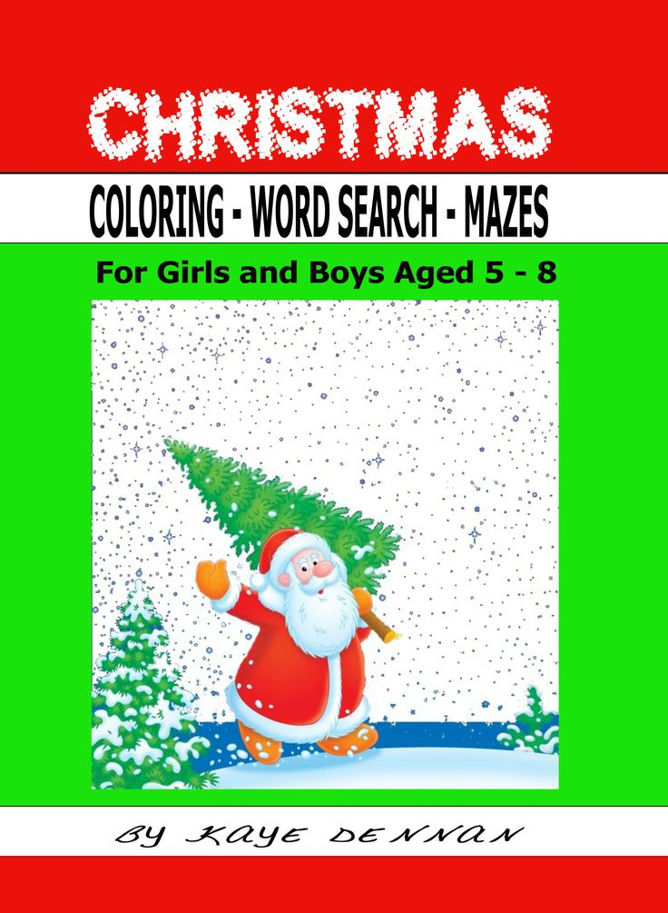 Christmas activity book. Maze, word search, coloring. Click to view.