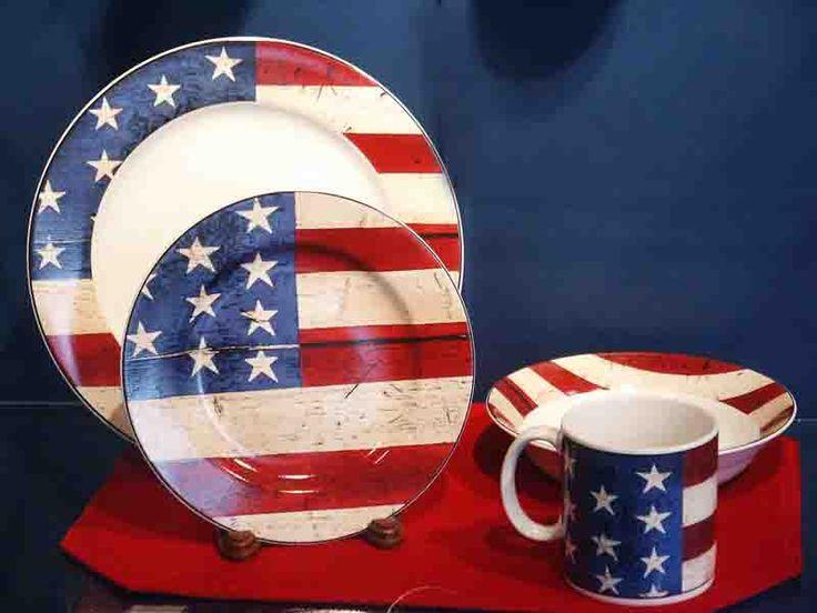 Patriotic American Flag Dishes | #Merica | Pinterest ...