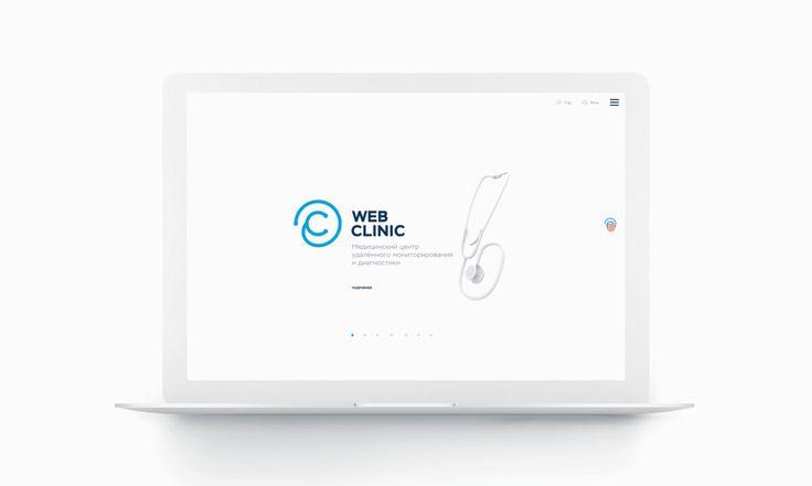 WebClinic website on Behance