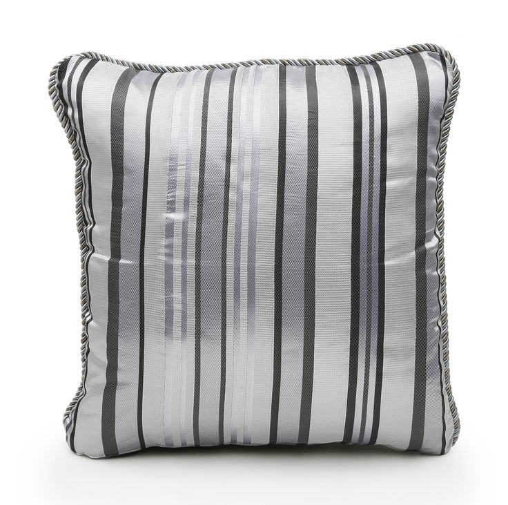 Silver Stripe Scatter Cushion