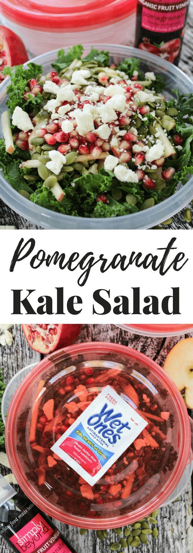 #sp Pomegranate Kale Salad #InstantMealsBx #wishihadawetones