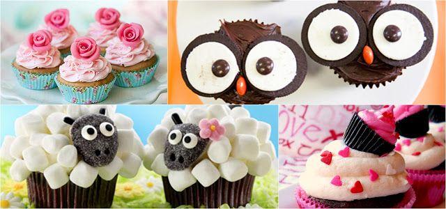 12 ideias fofas para decorar cupcakes