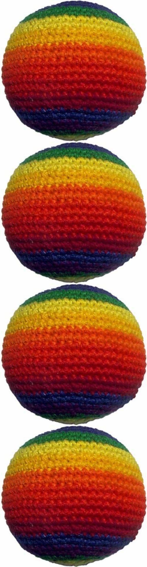 Balls Frisbees and Boomerangs 19017 Hacky Sack Rainbow