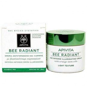 Apivita Bee Radiant Light, Κρέμα Αντιγήρανσης και Λάμψης. Επαναφέρει τη νεανική όψη της επιδερμίδας επαναφέροντας τη φυσική της λάμψη.
