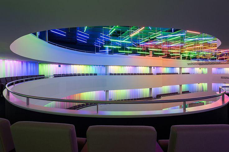 https://flic.kr/p/A2Bg8X | Concertzaal Tilburg | Architect: Jo Coenen, lichtkunstwerk: Peter Struycken (2012)