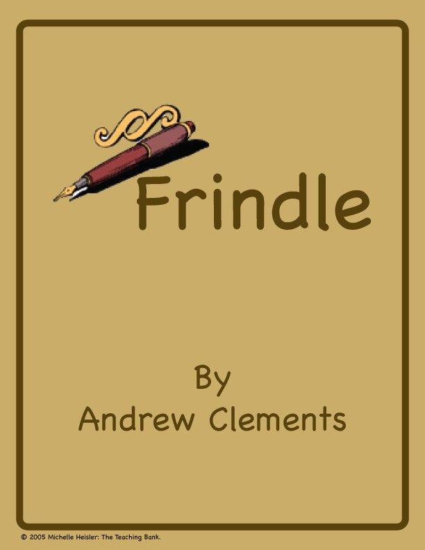 This is a custom written literature unit to be used with Frindle by Andrew Clements.   This unit is designed to be used with some student/instructor interaction. It is written for the 4-6th grade reading level.