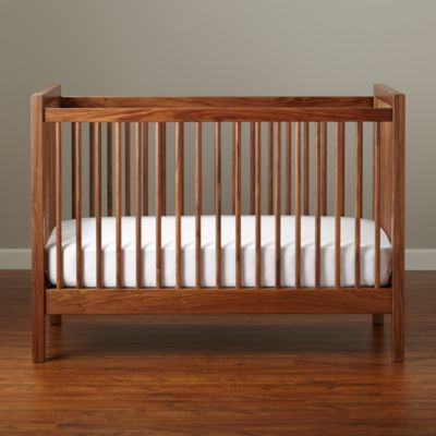 "I never thought I wanted a ""natural wood"" look until I saw this walnut crib. So pretty. Land of Nod."