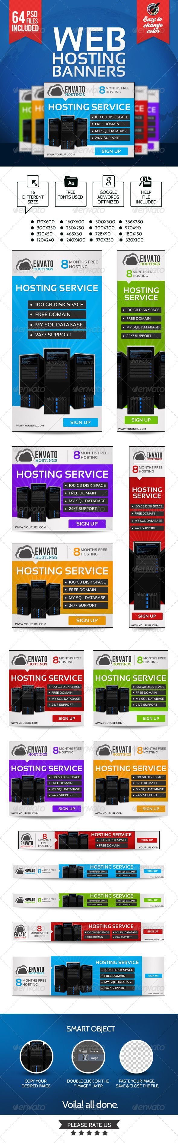 Web Hosting Banners Template PSD | Buy and Download: http://graphicriver.net/item/web-hosting-banners-64-psds/7354427?WT.ac=category_thumb&WT.z_author=BannerDesignCo&ref=ksioks