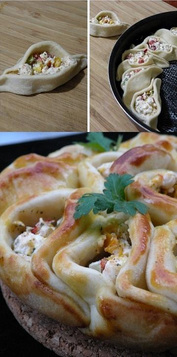 pasta di pane con gorgonzola e radicchio
