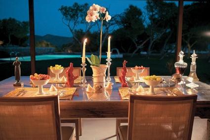 Cape Sounio In Villa Dining