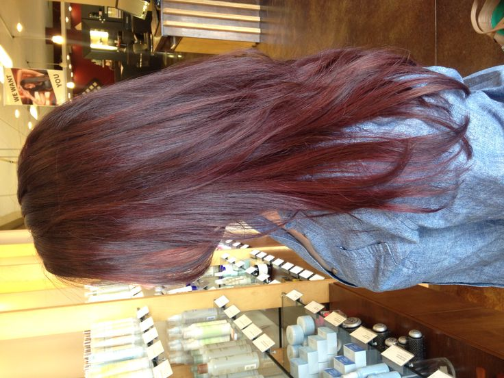 A Red Violet Toned Brunette Created With Aveda Full Spectrum Permanent Hair Color